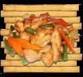 Куриное филе под соусом карри