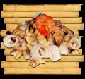 Морепродукты с соусом