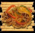 Фунчёза с грибами шиитаке