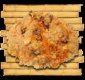 Рис с грибами шиитаке